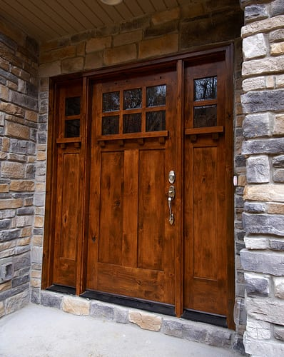 Strong, Sturdy, And Rustic, This Front Door Is Reminiscent Of A Cabin In  The Adirondacks. The Strong Architectural Details Hint To Visitors That  There Might ...